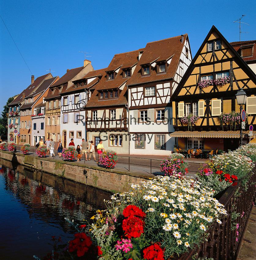 France, Alsace, Haut-Rhin, Colmar: Petite Venise (Little Venice), fishmonger's district at river Lauch | Frankreich, Elsass, Colmar: Petite Venise (Klein Venedig), Fischerstaden am Fluss Lauch