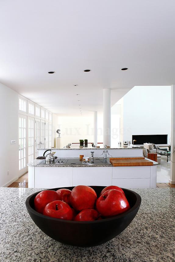 luxury contemporary open plan kitchen