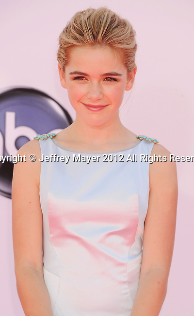 LOS ANGELES, CA - SEPTEMBER 23: Kiernan Shipka. arrives at the 64th Primetime Emmy Awards at Nokia Theatre L.A. Live on September 23, 2012 in Los Angeles, California.