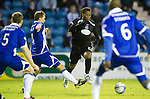Kilmarnock v St Johnstone....15.01.11  .Collin Samuel is fouled by James Fowler.Picture by Graeme Hart..Copyright Perthshire Picture Agency.Tel: 01738 623350  Mobile: 07990 594431