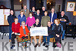 Organisors of the Old Kenmare walk presented its proceeds to the South Kerry MS Society in the Gleneagle Hotel on Monday evening front row l-r: Kay Fleming, Mary O'Connor, Pat O'Neill John  O'Shea, Mary O'Connor, Back row: John Foley, Kathleen Sheehan, Kathleen O'Shea, Jim O'Callaghan, Norrie O'Neill,Back row: John O'Sullivan, Donal mCCarthy, Patie Nagle, Patrick O'Donoghue and Les Nolan