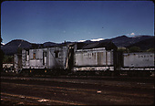 D&amp;RGW rotary #OM with tender and water car in Chama.<br /> D&amp;RGW  Chama, NM