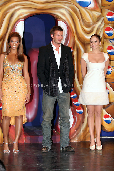 WWW.ACEPIXS.COM . . . . .  ... . . . . US SALES ONLY . . . . .....MADRID, FEBRUARY 23, 2005....Beyonce Knowles, David Beckham and Jennifer Lopez in Madrid to launch the Pepsi Spot campaign which took place at the Circulo De Bellas Artes.....Please byline: FAMOUS-ACE PICTURES-J. APARICIO... . . . .  ....Ace Pictures, Inc:  ..Philip Vaughan (646) 769-0430..e-mail: info@acepixs.com..web: http://www.acepixs.com