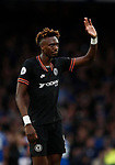 Tammy Abraham of Chelsea apologises to the fans during the Premier League match at Bramall Lane, Sheffield. Picture date: 5th December 2019. Picture credit should read: Simon Bellis/Sportimage
