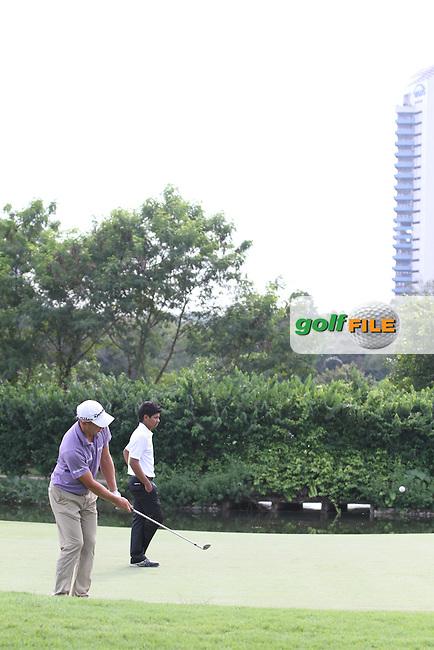 Lorenzo Gagli (ITA) on the 2nd during the Pro-Am of the Maybank Malaysian Open 2012 at Kuala Lumpur Golf and Country Club, Kuala Lumpur, Malaysia....(Photo Jenny Matthews/www.golffile.ie)
