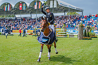GER-Ingrid Klimke and SAP Hale Bob OLD take the individual Title, during the SAP Cup - CICO4*-S Nations Cup Eventing Prizegiving. 2019 GER-CHIO Aachen Weltfest des Pferdesports. Saturday 20 July. Copyright Photo: Libby Law Photography