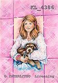 Interlitho, Theresa, TEENAGERS, paintings, girl, dog, KL4386,#j# Jugendliche, jóvenes, illustrations, pinturas ,everyday