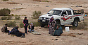 A PIECE OF JORDAN - TRAVEL FEATURE. DAY TRIPPERS AND PICNICERS IN THE DESERT NEAR LITTLE PETRA. PHOTO BY CLARE KENDALL. 07971 477316.