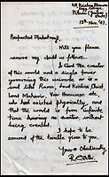 Gandhi's 'warning' letter.