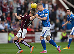 Hearts v St Johnstone...02.08.15   SPFL Tynecastle, Edinburgh<br /> Scott Brown and Jamie Walker<br /> Picture by Graeme Hart.<br /> Copyright Perthshire Picture Agency<br /> Tel: 01738 623350  Mobile: 07990 594431