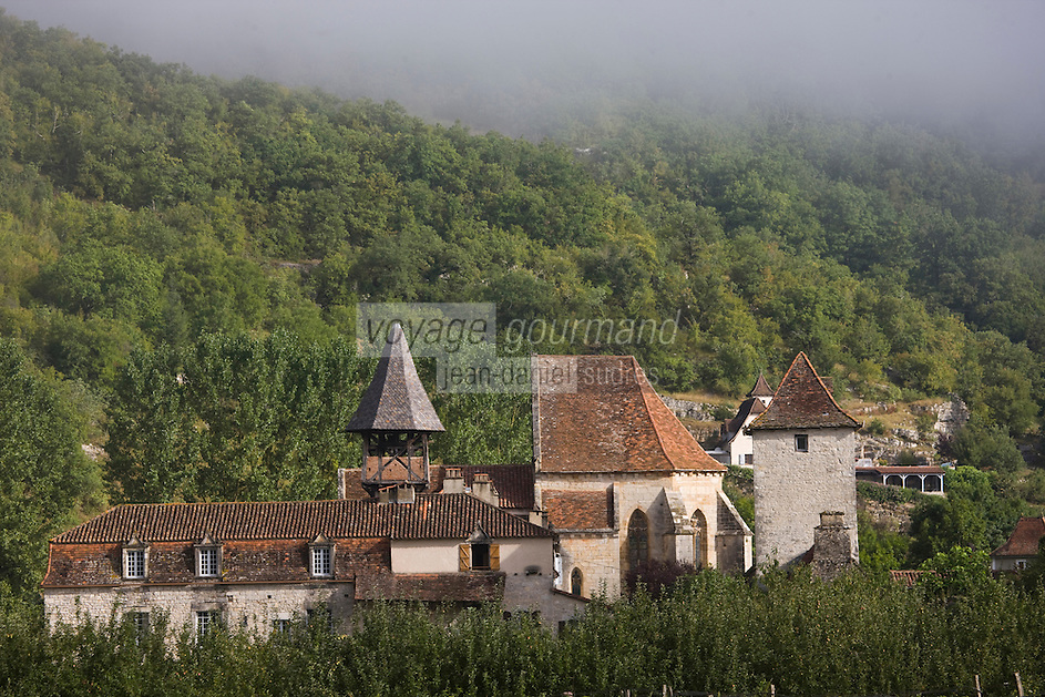 Europe/France/Midi-Pyrénées/46/Lot/Espagnac-Sainte-Eulalie: l'église Notre-Dame-de-Val-Paradis