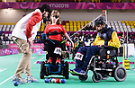Marylou Martineau competes in Boccia at the 2019 ParaPan American Games in Lima, Peru-29aug2019-Photo Scott Grant