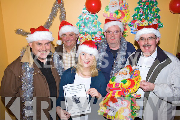 CHRISTMAS CHEER: Members of Milltown Community Council and Milltown-Listry Comhaltas who are bringing Santa Claus to Milltown Hall on Sunday, l-r: Maurice Harmon, Ken O'Neill, Cecelia O'Neill, Liam Hurley, John Clifford.