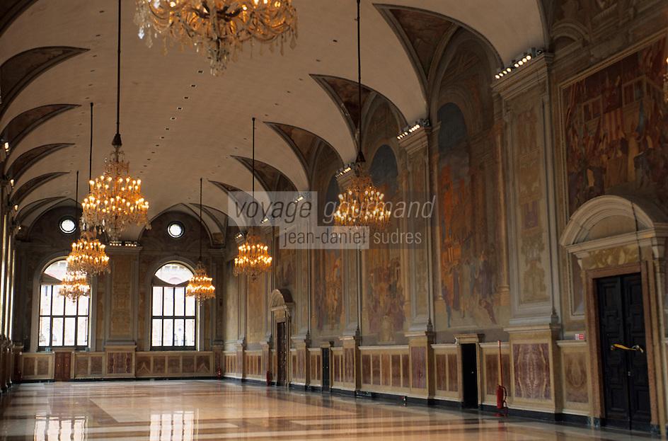 """Europe/Italie/Emilie-Romagne/Bologne : Palace """"Re Enzo"""" - Salon du Podesta"""
