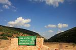 Israel, Upper Galilee, Lower Wadi Dishon by road 886