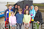 The persistent rain didn't deter the  gang from Callinafercy who were at the Cahersiveen Regatta on Sunday last pictured front l-r; Grace Halliday, Conall Wheelan, Clodagh Murphy, back l-r; Eimear Hurley, Mickaela Foley, Gra?ine Coffey, Tara Horgan, Ciara Halliday & Gina Halliday.