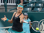 Lucie Safarova (CZE) defeats Samantha Stosur (AUS) 3-6, 6-4, 6-4 at the Family Circle Cup in Charleston, South Carolina on April 3, 2014.