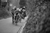 53rd Brabantse Pijl 2013..lead group up the Hagaard