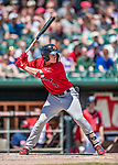 31 May 2018: Portland Sea Dogs outfielder Tate Matheny at bat against the New Hampshire Fisher Cats at Northeast Delta Dental Stadium in Manchester, NH. The Sea Dogs rallied to defeat the Fisher Cats 12-9 in extra innings. Mandatory Credit: Ed Wolfstein Photo *** RAW (NEF) Image File Available ***