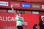Sam Bennett (IRL) Bora-Hansgrohe wins Stage 3 of La Vuelta 2019 running 188km from Ibi. Ciudad del Juguete to Alicante, Spain. 26th August 2019.<br /> Picture: Ann Clarke | Cyclefile<br /> <br /> All photos usage must carry mandatory copyright credit (© Cyclefile | Ann Clarke)