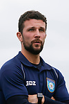 Ryan Farrell, Yorkshire Head Coach. Yorkshire v Parishes of Jersey, CONIFA Heritage Cup, Ingfield Stadium, Ossett. Yorkshire's first competitive game. The Yorkshire International Football Association was formed in 2017 and accepted by CONIFA in 2018. Their first competative fixture saw them host Parishes of Jersey in the Heritage Cup at Ingfield stadium in Ossett. Yorkshire won 1-0 with a 93 minute goal in front of 521 people. Photo by Paul Thompson