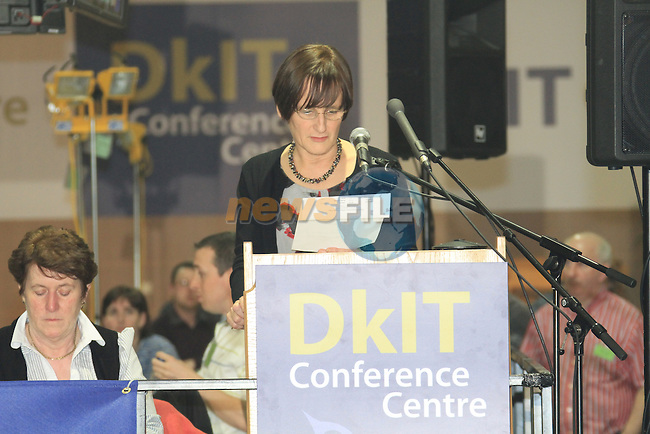 Returning Officer Mairead Ahern.at the louth election count in the DKIT, Dundalk Co Louth..Picture: Fran Caffrey / www.newsfile.ie.