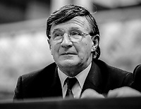 Patrick Hegarty, TD, Cork East, Fine Gael, platform, Ard Fheis, October, 1982, appointed Minister of State, Dept of Agriculture, December 1982, 198212140339PH<br /><br />Copyright Image from Victor Patterson, 54 Dorchester Park, <br />Belfast, UK, BT9 6RJ<br /><br />t1: +44 28 9066 1296 (from Rep of Ireland 048 9066 1296)<br />t2: +44 28 9002 2446 (from Rep of Ireland 048 9002 2446)<br />m: +44 7802 353836<br /><br />victorpatterson@me.com<br />www.victorpatterson.com<br /><br />Please see my Terms and Conditions of Use at VICTORPATTERSON.COM. It is IMPORTANT that you familiarise yourself with them.<br /><br />Images used on the Internet must be visibly watermarked i.e. &copy;VICTORPATTERSON.COM within the body of the image and copyright metadata must not be deleted. Images used on the Internet have a size restriction of 4kbs and are chargeable at the then current NUJ rates.<br /><br />This image is only available for the use of the download recipient i.e. television station, newspaper, magazine, book publisher, etc, and must not be passed on to any third party. It is also downloaded on condition that each and every usage is notified within 7 days to victorpatterson@me.com<br /><br />The right of Victor Patterson to be identified as the author is asserted in accordance with The Copyright Designs And Patents Act (1988).