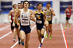 NAPERVILLE, IL - MARCH 11: Isaac Garcia-Cassani of  SUNY Geneseo runs the mile at the Division III Men's and Women's Indoor Track and Field Championship held at the Res/Rec Center on the North Central College campus on March 11, 2017 in Naperville, Illinois. (Photo by Steve Woltmann/NCAA Photos via Getty Images)
