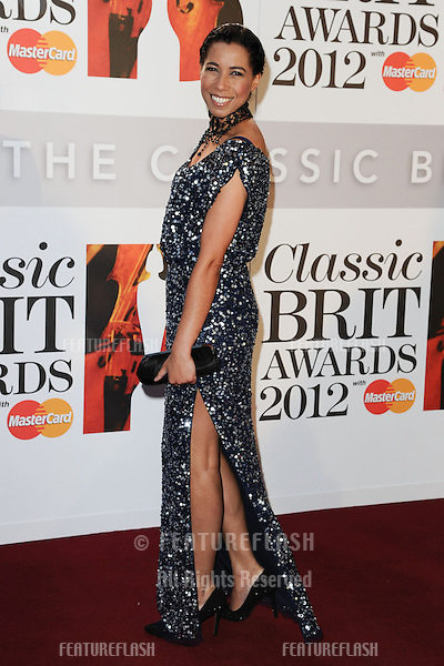 Margherita Taylor arriving for the Classic Brit Awards 2012 at the Royal Albert Hall, London. 02/10/2012 Picture by: Steve Vas / Featureflash