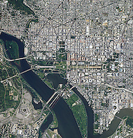 aerial photo map of Washington, DC, 2012