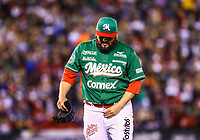 Edgar Gonzalez, starting pitcher of the Tomateros of Culiacan de Mexico, makes pitches in the first inning of the Caribbean Series baseball game against Criollos de Caguas of Puerto Rico<br /> &nbsp;in Guadalajara, Mexico, Friday, February 2, 2018. (AP Photo / Luis Gutierrez)