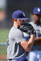 San Diego Padres pitcher Eric Lauer (20) during an Instructional League camp day on October 4, 2016 at the Peoria Sports Complex in Peoria, Arizona.  (Mike Janes/Four Seam Images)