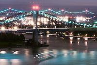 A long time exposure of the Triborough Bridge (renamed the RFK Memorial Bridge)in New York City.