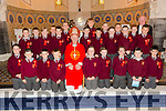 Lixnaw boys school confirmation classes of fifth and sixth class with their Principal/Teacher Mr John McAuliffe  in St. Michael's Church, Lixnaw by the Bishop of Kerry Ray Browne on Thursday