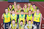 Gneeveguilla AC athletes that were successful at the National Athletic Championships in Tullamore last weekend front row l-r: Gary Cronin, Killian Cronin, Shane Warren. Middle row: Hannah O'Sullivan, Donal O'Sullivan, Ronan Colllins, Sadie Morris, Sinead Warren. Back row: Anette O'Brien, Eileen O'Riordan, Elaine Cronin, Brid Stack, Mel O'Callaghan and Jennifer Walsh