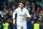 Real Madrid's forward Alvaro Morata during the match of La Liga between Real Madrid and   Real Sociedad at Santiago Bernabeu Stadium in Madrid, Spain. January 29th 2017. (ALTERPHOTOS/Rodrigo Jimenez)