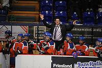 IJSHOCKEY: HEERENVEEN: Thialf, IIHF Ice Hockey U18 World Championship, 03-04-12, Nederland - Kroatie, Hoofdcoach Robb Serviss, Rocco van Hoorn (#13), Raymond van der Schuit (#18), Jesse Hendriks (#23), Davey Menting (#12), ©foto Martin de Jong