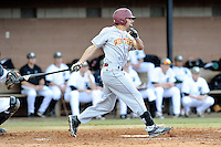 Right fielder Anthony Paulsen (20) of the Winthrop University Eagles bats in a game against the University of South Carolina Upstate Spartans on Wednesday, March 4, 2015, at Cleveland S. Harley Park in Spartanburg, South Carolina. Upstate won, 12-3. (Tom Priddy/Four Seam Images)