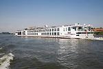 Large Swiss river cruise ship River Maas, Rotterdam, Netherlands