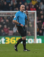 Referee Roger East<br /> <br /> Photographer David Horton/CameraSport<br /> <br /> The Premier League - Bournemouth v Wolverhampton Wanderers - Saturday 23 February 2019 - Vitality Stadium - Bournemouth<br /> <br /> World Copyright © 2019 CameraSport. All rights reserved. 43 Linden Ave. Countesthorpe. Leicester. England. LE8 5PG - Tel: +44 (0) 116 277 4147 - admin@camerasport.com - www.camerasport.com