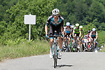 Pierre Rolland (FRA) Vital Concept-B&B Hotels caught by the chase group on the slopes of the final climb Horquette d'Ancizan during Stage 3 of the Route d'Occitanie 2019, running 173km from Arreau to Luchon-Hospice de France, France. 22nd June 2019<br /> Picture: Colin Flockton | Cyclefile<br /> All photos usage must carry mandatory copyright credit (© Cyclefile | Colin Flockton)