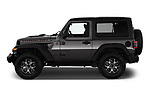 Car Driver side profile view of a 2020 JEEP Wrangler Rubicon 5 Door SUV Side View