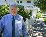 Richard Hill, a lawyer in Reno, Nevada, stands outside his office on June 25, 2018. Hill, who donated the rare footage to the FDR library, is the grandson of Fred Hill, the Reno rancher who shot the film of FDR.