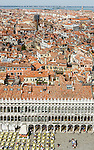 View of Piazza San Marco from Campanile. Venice, Italy