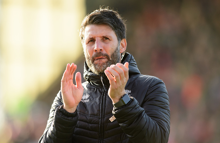 Lincoln City manager Danny Cowley<br /> <br /> Photographer Chris Vaughan/CameraSport<br /> <br /> The EFL Sky Bet League Two - Lincoln City v Northampton Town - Saturday 9th February 2019 - Sincil Bank - Lincoln<br /> <br /> World Copyright &copy; 2019 CameraSport. All rights reserved. 43 Linden Ave. Countesthorpe. Leicester. England. LE8 5PG - Tel: +44 (0) 116 277 4147 - admin@camerasport.com - www.camerasport.com