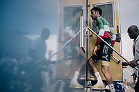 Italian champion Fabio Aru (ITA/Astana) entering the anti-doping control truck after the race<br /> <br /> 104th Tour de France 2017<br /> Stage 20 (ITT) - Marseille › Marseille (23km)