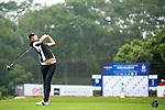 Yezhou Lin of China tees off on the 1st hole during the Round 1 of the Faldo Series Asia Grand Final at Mission Hills on March 2, 2011 in Shenzhen, China. Photo by Raf Sanchez / Faldo Series