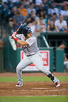 Hector Lorenzana (5) of the Greenville Drive at bat against the Greensboro Grasshoppers at NewBridge Bank Park on August 17, 2015 in Greensboro, North Carolina.  The Drive defeated the Grasshoppers 5-4 in 13 innings.  (Brian Westerholt/Four Seam Images)