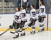 Matt Hatch (Union - 15), Shawn Stuart (Union - 28), John Simpson (Union - 23), Luke Cain (Union - 10) - The University of Minnesota-Duluth Bulldogs defeated the Union College Dutchmen 2-0 in their NCAA East Regional Semi-Final on Friday, March 25, 2011, at Webster Bank Arena at Harbor Yard in Bridgeport, Connecticut.
