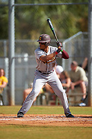 Central Michigan Chippewas right fielder Daniel Robinson (19) at bat during a game against the Boston College Eagles on March 8, 2016 at North Charlotte Regional Park in Port Charlotte, Florida.  Boston College defeated Central Michigan 9-3.  (Mike Janes/Four Seam Images)